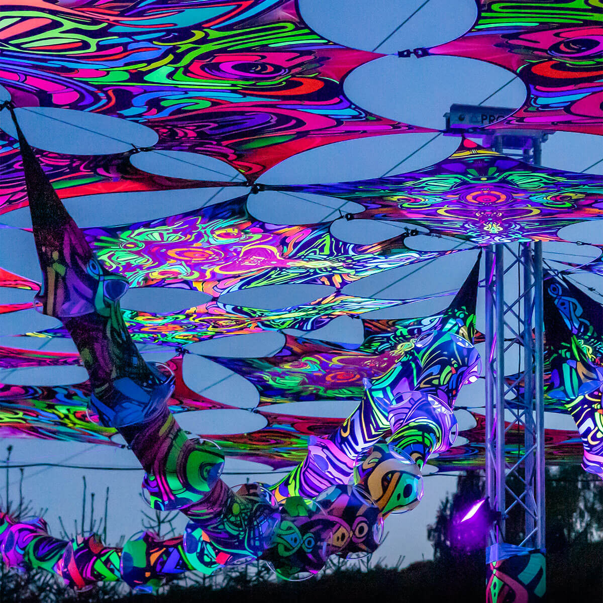 Goa Schwarzlicht Festivaldeko